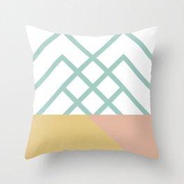 DREAM CATCHERS // Green mountains Throw Pillow
