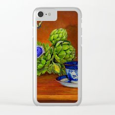 Teacup with Artichokes Clear iPhone Case