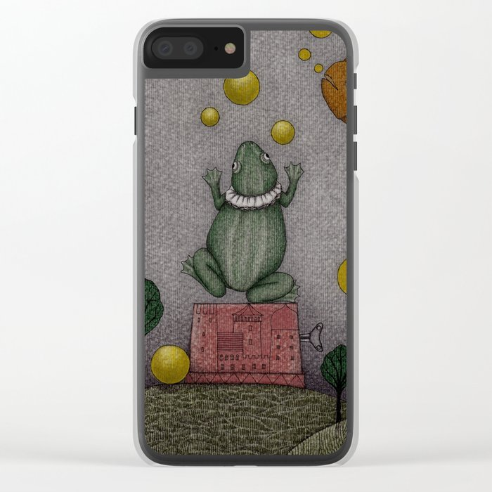 Frogking (2) Clear iPhone Case