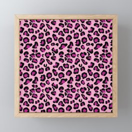 Leopard-Pink+Black+Purple Framed Mini Art Print