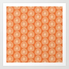 Orange Mums Art Print