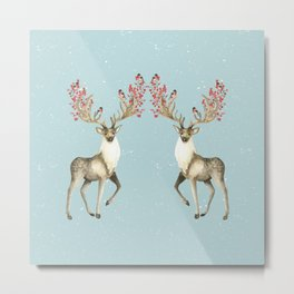 Deers With Birds #society6 #buyart Metal Print