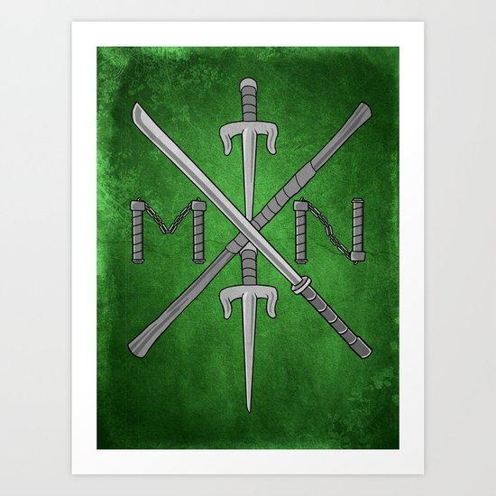 Weapons Down - TMNT Art Print