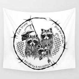 J20 solidarity raccoons Wall Tapestry