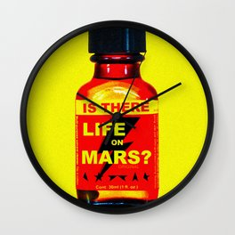 Poppers On Mars Wall Clock
