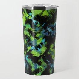 Abstract green black pattern . Travel Mug