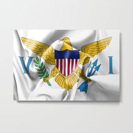 United States Virgin Islands Flag Metal Print