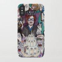 tim burton iPhone & iPod Cases featuring TIM BURTON TEA PARTY by VINCE