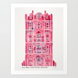 Hawa Mahal – Pink Palace of Jaipur, India Art Print