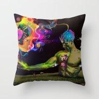 alchemy Throw Pillows featuring Alchemy Resonance by Archan Nair