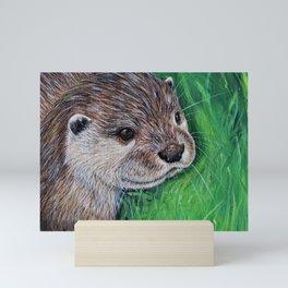 Little River Otter Painting Mini Art Print