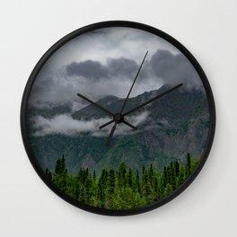 Summer Storm Clouds - Kenai_Peninsula, Alaska Wall Clock