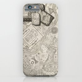 Vintage Map - Map of Rome, from Campus Marius Antiquae Urbis (1762) iPhone Case