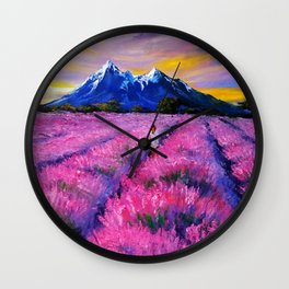 LAVANDER DREAMS Wall Clock