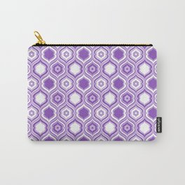 Mid Century Modern Double Quatrefoil - Lavender Purple and White Carry-All Pouch