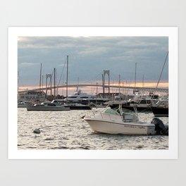 Newport Bay Art Print