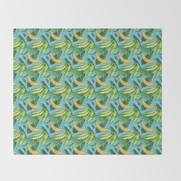 Plantain Paradise Pattern - For true plantain fans Throw Blanket