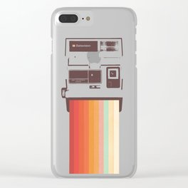 Instant Camera Rainbow Clear iPhone Case