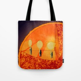 Inner Workings of the Sun Tote Bag
