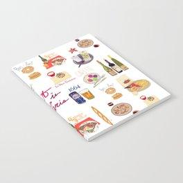 Paris Food Map Notebook