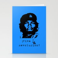 dodgers Stationery Cards featuring Yasiel Puig - Viva LA Revolucion! by Adrian Mentus