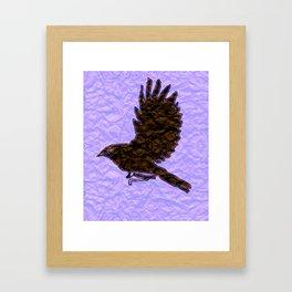 Paper Bird Framed Art Print