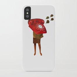 Mrs. Telephone Girl iPhone Case