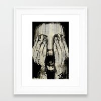 scream Framed Art Prints featuring scream by LouiJoverArt
