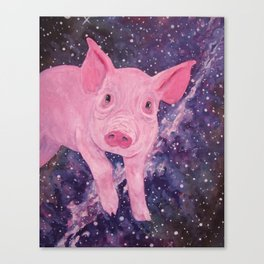 Pig in a Space Blanket Canvas Print