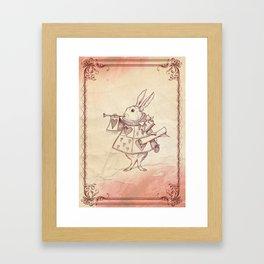 Alice in Wonderland's Rabbit Framed Art Print