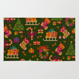 christmas x stitch pattern for the holiday mood Rug