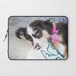 Beach Dog Babe Laptop Sleeve