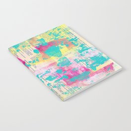 Abstract Mixed Media - Neon Notebook