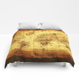 Arty Vintage Old World Map Comforters
