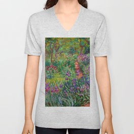"Claude Monet ""The Iris Garden at Giverny"", 1899-1900 Unisex V-Neck"