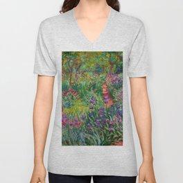 """Claude Monet """"The Iris Garden at Giverny"""", 1899-1900 Unisex V-Neck"""