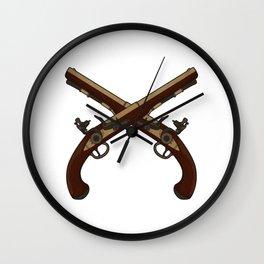 Flintlock Pistols Wall Clock