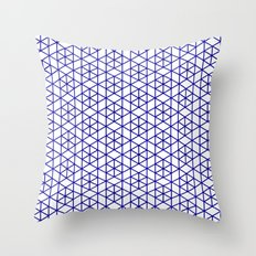 Karthuizer Blue & White Pattern Throw Pillow