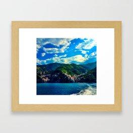 Cinque Terre Coastline Framed Art Print
