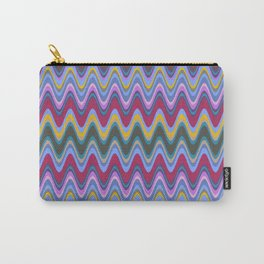 Wavy Pattern Carry-All Pouch