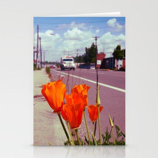 Roadside flowers Stationery Cards