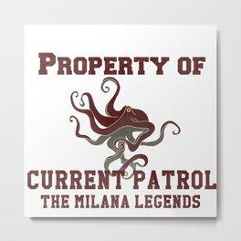 Milana Legends Current Patrol Metal Print