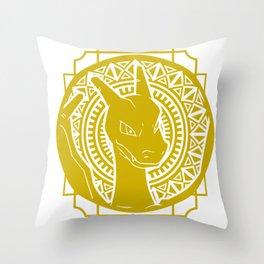 Stained Glass - Pokémon - Charizard Throw Pillow