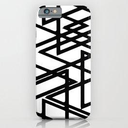 Interlocking Black Triangles Artistic Design iPhone Case