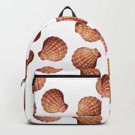 White big Clam pattern Illustration design Backpack