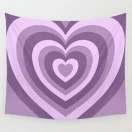 Hypnotic Purple Hearts Wall Tapestry