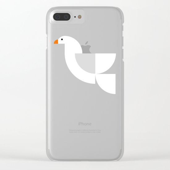 Geometric Dove Clear iPhone Case