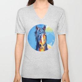 Horse Beauty - colorful animal portrait Unisex V-Neck