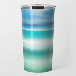 """Blue sky over teal sea South"" Travel Mug"
