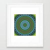 mandala Framed Art Prints featuring Mandala by David Zydd